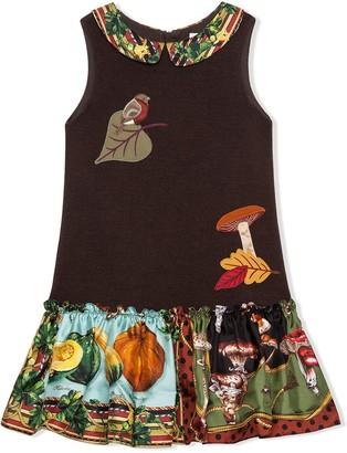 Dolce & Gabbana Kids Autumn applique dress