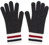 Moncler Gamme Bleu Grey Wool Gloves