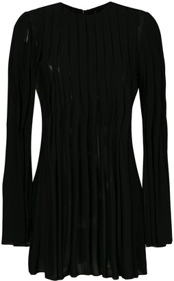 Rosetta Getty Pleated Flared Top