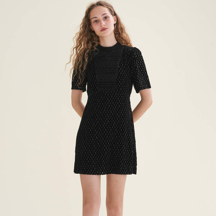 Maje Short dress with front panel