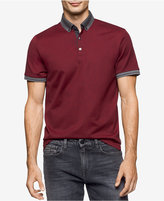 Calvin Klein Men's Antonio Striped-Trim Polo, A Macy's Exclusive