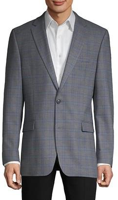 Tommy Hilfiger Standard-Fit Patterned Blazer