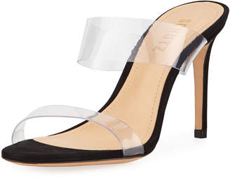 Schutz Ariella Strappy See-Through Vinyl Slide Sandals
