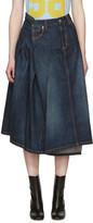 Junya Watanabe Indigo Asymmetric Denim Skirt