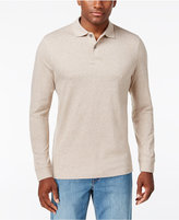 Tasso Elba Long-Sleeve Heathered Polo, Only at Macy's