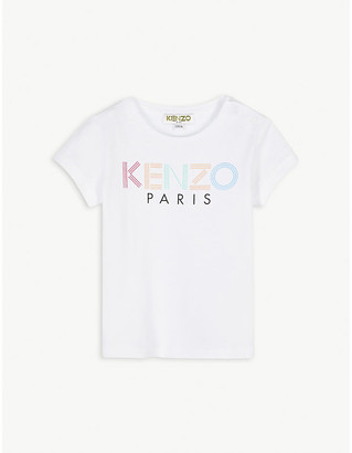 Kenzo Striped logo-print cotton T-shirt 6-36 months