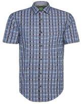 HUGO BOSS Balduino Slim Fit, Cotton Button Down Shirt LBlue