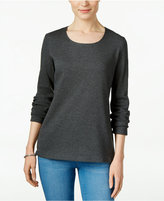 Karen Scott Long-Sleeve Scoop-Neck Top, Only at Macy's