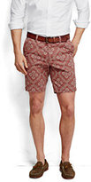 "Lands' End Men's 9"" Print Casual Chino Shorts-Classic Navy Lighthouse Print"