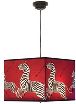 The Well Appointed House Scalamandre Maison Red Le Zebre Square Pendant