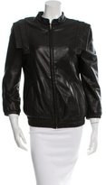 Loeffler Randall Leather Zip-Up Jacket