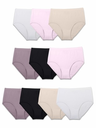 Fruit of the Loom Women's Underwear Cotton Brief Panty Multipack