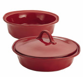 Rachael Ray Cucina 3-Piece Round Baker and Lid Set