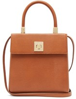 Sparrows Weave - The Classic Lizard-embossed Leather Top-handle Bag - Womens - Tan