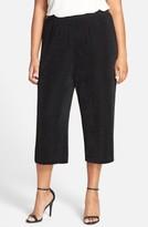 Vikki Vi Plus Size Women's Stretch Knit Crop Pants