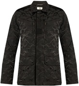 Saint Laurent Camouflage-jacquard cotton-blend jacket