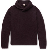 Massimo Alba Shawl-Collar Alpaca-Blend Sweater