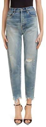 Saint Laurent Distressed Slim Jeans