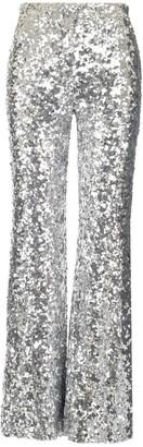 Halpern Metallic Sequinned Flared Trousers