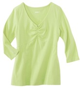 Merona Women's 3/4 Sleeve Shirred Tee - Assorted Colors