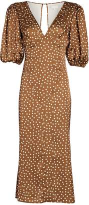 Ronny Kobo Callie Polka Dot Chiffon Dress