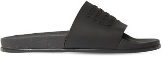 Maison Margiela Logo Rubber Slide Sandals