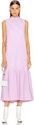 Tibi Modern Drape Sculpted Drape Long Dress in Mulberry   FWRD