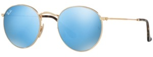 Ray-Ban Sunglasses, RB3447N Round Flat Lenses
