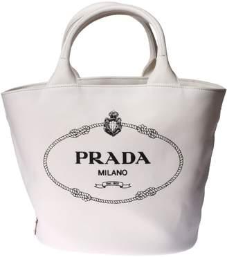 Prada Logo Printed Tote
