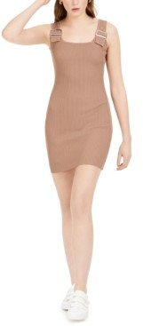 Bar III Buckle-Detail Bodycon Sweater Dress, Created for Macy's