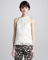 Nanette Lepore Inca Sleeveless Lace Top