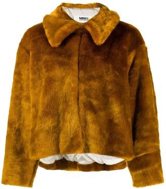 Maison Margiela \N Orange Faux fur Coats
