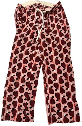 Miu Miu Pink Silk Trousers