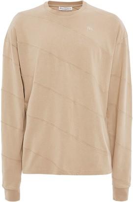 J.W.Anderson long sleeve diagonal panelled T-shirt