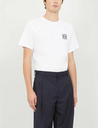 Loewe Logo-embroidered cotton-jersey T-shirt