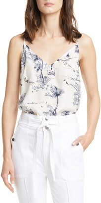 Frame Mixed Print Silk Camisole