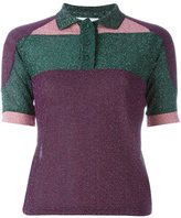 Carven panelled polo shirt