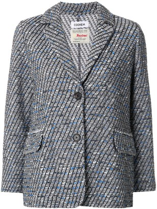 Coohem Tweed Single Breasted Blazer