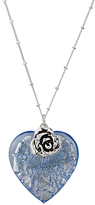 Glass Heart Martick Bohemian Pendant Necklace