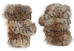 Jocelyn Women's Mandy Rabbit Fur Fingerless Mittens
