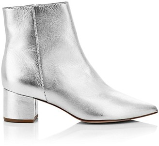 Schutz Carry Metallic Leather Ankle Boots