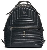 Fendi Small Quilted Lambskin Leather Backpack - Black