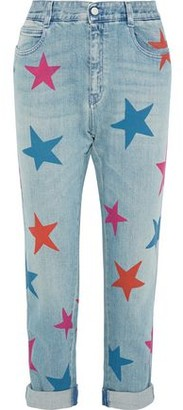 Stella McCartney Cropped Printed High-rise Straight-leg Jeans