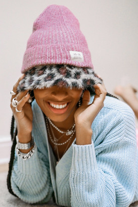 Urban Outfitters Fuzzy Plaited Knit Beanie