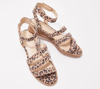 Vince Camuto Leather Demi-Wedge Sandals - Resensa