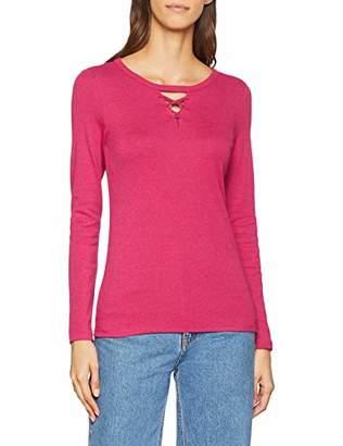 Esprit edc by Women's 108cc1k003 Long Sleeve Top, (Cherry Red 615), Medium