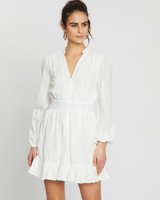 Missguided Broderie Frill Hem Dress