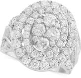 Effy Rock Candy by Diamond Oval Cluster Ring (3-1/2 ct. t.w. in 14k White Gold