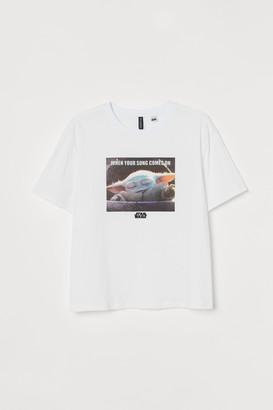 H&M H&M+ Graphic-design T-shirt