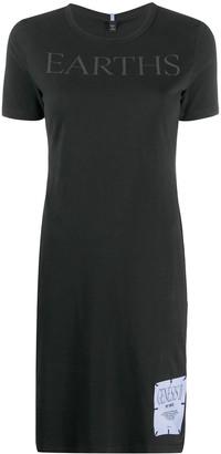 Mcq Swallow Earths T-shirt mini dress